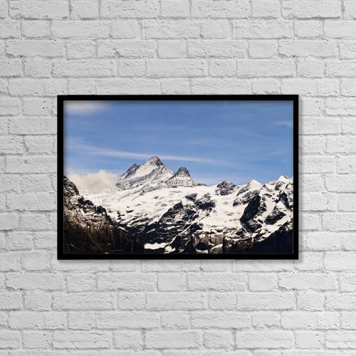 "Printscapes Wall Art: 18"" x 12"" Canvas Print With Black Frame - Jungfrau by Kav Dadfar"