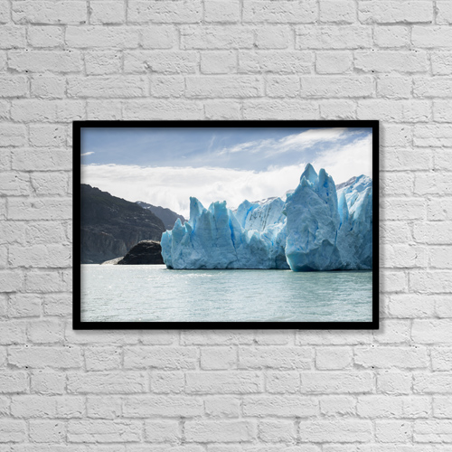 "Printscapes Wall Art: 18"" x 12"" Canvas Print With Black Frame - Weather by Keith Levit"