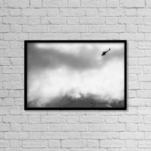 "Printscapes Wall Art: 18"" x 12"" Canvas Print With Black Frame - Transportation by Dean Blotto Gray"