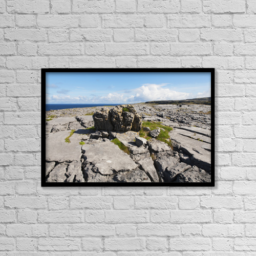"Printscapes Wall Art: 18"" x 12"" Canvas Print With Black Frame - Landscape Near Doolin by Carl Bruemmer"