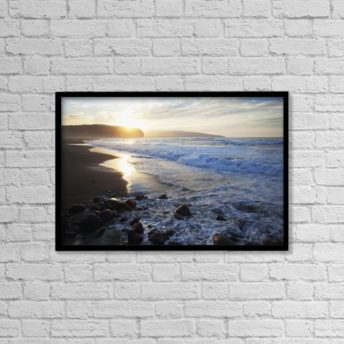 "Printscapes Wall Art: 18"" x 12"" Canvas Print With Black Frame - Scenic by Carl Bruemmer"