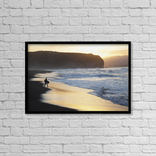 "Printscapes Wall Art: 18"" x 12"" Canvas Print With Black Frame - Lifestyle by Carl Bruemmer"