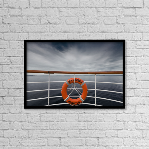"Printscapes Wall Art: 18"" x 12"" Canvas Print With Black Frame - Nautical by Terence Waeland"