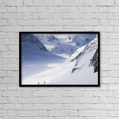 "Printscapes Wall Art: 18"" x 12"" Canvas Print With Black Frame - People by Penny Kendall"