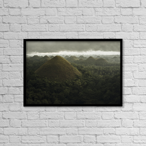 "Printscapes Wall Art: 18"" x 12"" Canvas Print With Black Frame - Scenic by Luis Martinez"