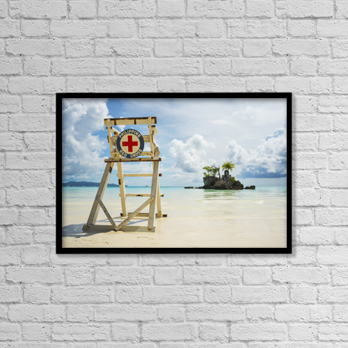 """Printscapes Wall Art: 18"""" x 12"""" Canvas Print With Black Frame - Sports and Recreation by Luis Martinez"""