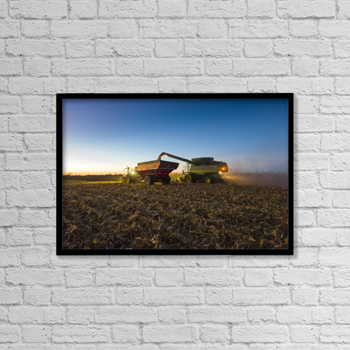 """Printscapes Wall Art: 18"""" x 12"""" Canvas Print With Black Frame - Agriculture by Scott Sinklier"""
