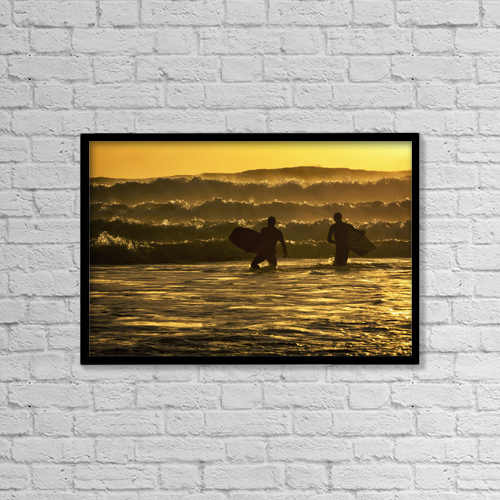"Printscapes Wall Art: 18"" x 12"" Canvas Print With Black Frame - Sports and Recreation by Marion Owen"
