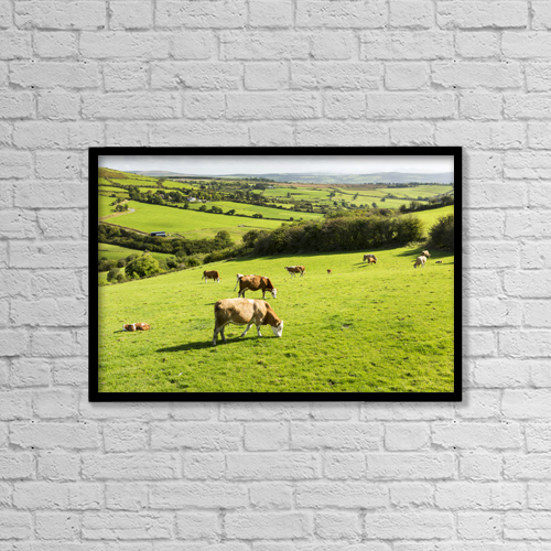 "Printscapes Wall Art: 18"" x 12"" Canvas Print With Black Frame - Animals by Michael Interisano"