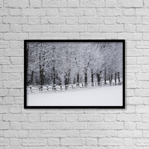 """Printscapes Wall Art: 18"""" x 12"""" Canvas Print With Black Frame - Scenic by David Chapman"""