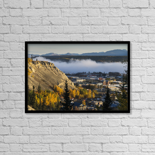 "Printscapes Wall Art: 18"" x 12"" Canvas Print With Black Frame - Architectural Exteriors by Mark Newman"