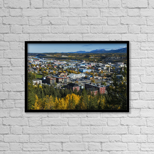 """Printscapes Wall Art: 18"""" x 12"""" Canvas Print With Black Frame - Architectural Exteriors by Mark Newman"""