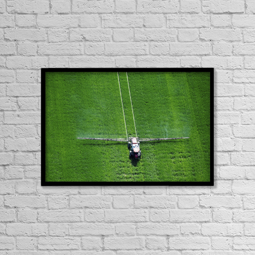 "Printscapes Wall Art: 18"" x 12"" Canvas Print With Black Frame - Agriculture by Remsberg Inc"