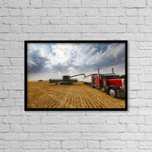"Printscapes Wall Art: 18"" x 12"" Canvas Print With Black Frame - Agriculture by Richard Hamilton Smith"