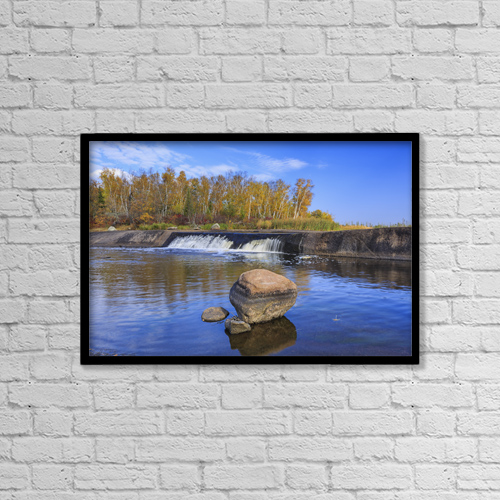 """Printscapes Wall Art: 18"""" x 12"""" Canvas Print With Black Frame - Scenic by Ken Gillespie"""