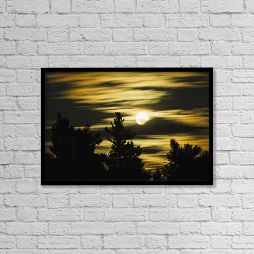 "Printscapes Wall Art: 18"" x 12"" Canvas Print With Black Frame - Astronomy by Yves Marcoux"