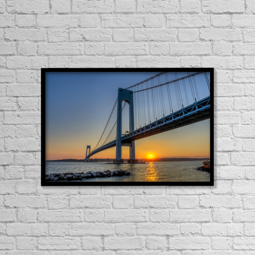 "Printscapes Wall Art: 18"" x 12"" Canvas Print With Black Frame - Architectural Exteriors by F. M. Kearney"