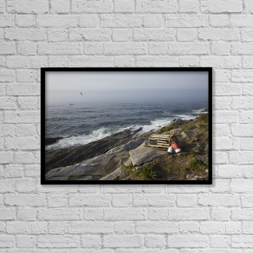 """Printscapes Wall Art: 18"""" x 12"""" Canvas Print With Black Frame - Industry by Lynn Stone"""