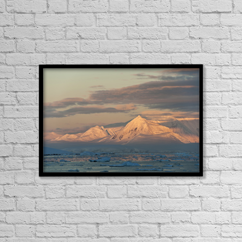 "Printscapes Wall Art: 18"" x 12"" Canvas Print With Black Frame - Scenic by Daisy Gilardini"