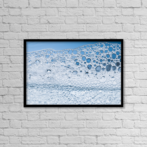 "Printscapes Wall Art: 18"" x 12"" Canvas Print With Black Frame - Water And Soap; Tarifa, Cadiz, Andalusia, Spain by Ben Welsh"