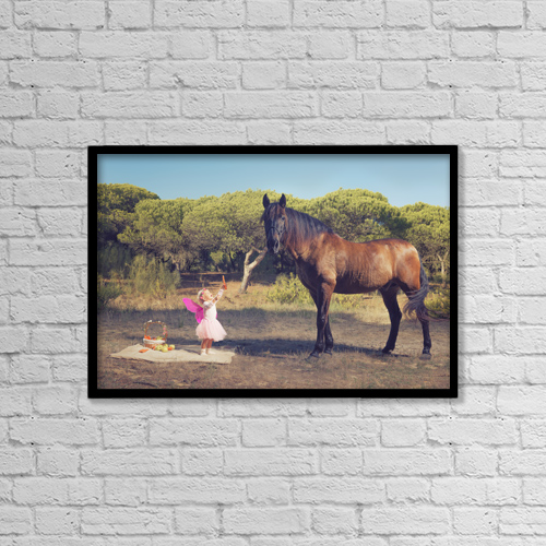 """Printscapes Wall Art: 18"""" x 12"""" Canvas Print With Black Frame - Lifestyle by Ben Welsh"""