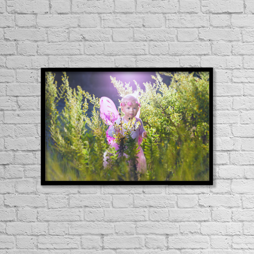 "Printscapes Wall Art: 18"" x 12"" Canvas Print With Black Frame - Little Princess by Ben Welsh"