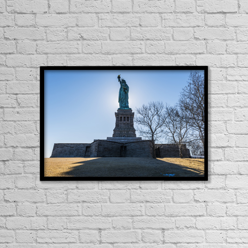 "Printscapes Wall Art: 18"" x 12"" Canvas Print With Black Frame - Artwork and Paintings by F. M. Kearney"