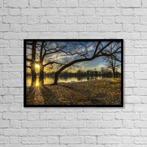 "Printscapes Wall Art: 18"" x 12"" Canvas Print With Black Frame - Scenic by F. M. Kearney"