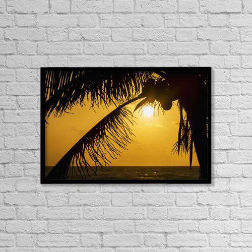 """Printscapes Wall Art: 18"""" x 12"""" Canvas Print With Black Frame - Scenic by Michael Interisano"""