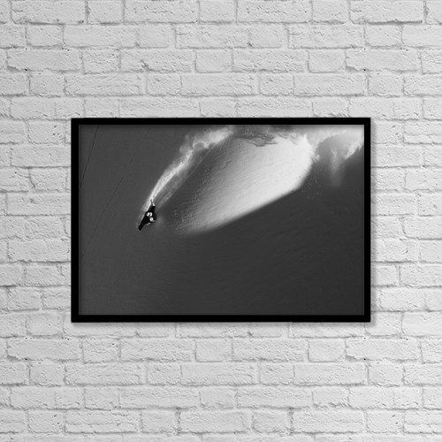 "Printscapes Wall Art: 18"" x 12"" Canvas Print With Black Frame - Sports and Recreation by Dean Blotto Gray"