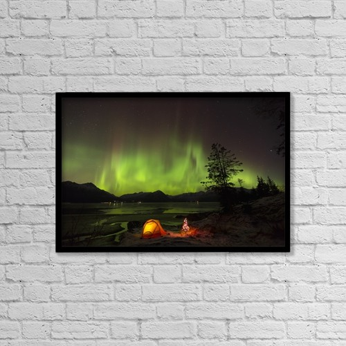 """Printscapes Wall Art: 18"""" x 12"""" Canvas Print With Black Frame - Astronomy by Lucas Payne"""