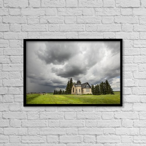 "Printscapes Wall Art: 18"" x 12"" Canvas Print With Black Frame - Christian Faith by Susan Dykstra"