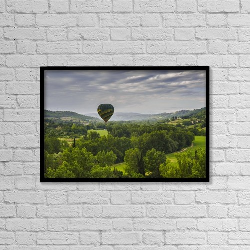 "Printscapes Wall Art: 18"" x 12"" Canvas Print With Black Frame - Transportation by Brian Guzzetti"
