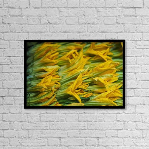 "Printscapes Wall Art: 18"" x 12"" Canvas Print With Black Frame - Food by Brian Guzzetti"