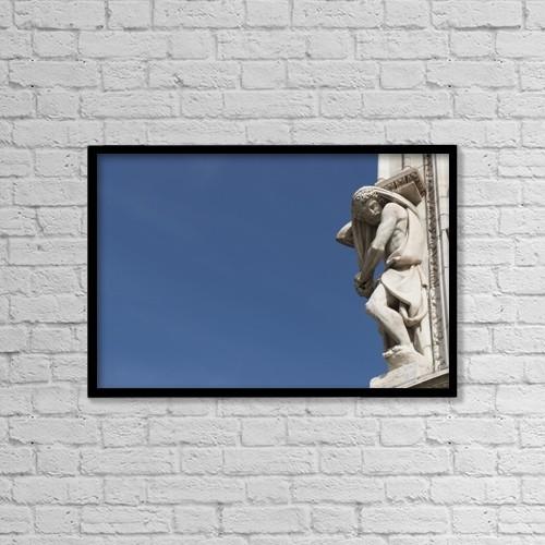 "Printscapes Wall Art: 18"" x 12"" Canvas Print With Black Frame - Christian Faith by Mats Silvan"