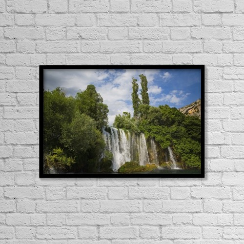 "Printscapes Wall Art: 18"" x 12"" Canvas Print With Black Frame - Krka National Park; Dalmatia, Croatia by Ken Welsh"