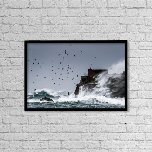 "Printscapes Wall Art: 18"" x 12"" Canvas Print With Black Frame - Animals by Ben Welsh"