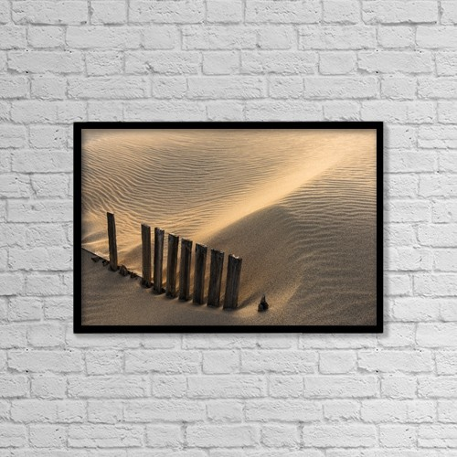 "Printscapes Wall Art: 18"" x 12"" Canvas Print With Black Frame - Punta Paloma Sand Dunes by Ben Welsh"