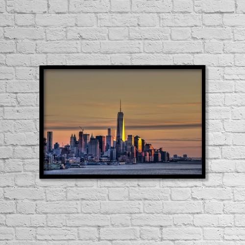 """Printscapes Wall Art: 18"""" x 12"""" Canvas Print With Black Frame - Travel by F. M. Kearney"""
