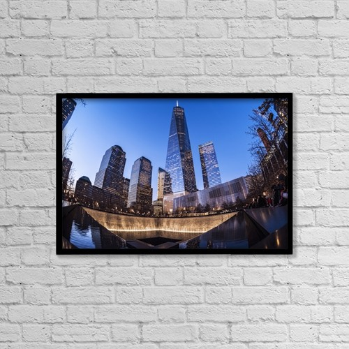 "Printscapes Wall Art: 18"" x 12"" Canvas Print With Black Frame - Travel by F. M. Kearney"
