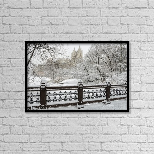 """Printscapes Wall Art: 18"""" x 12"""" Canvas Print With Black Frame - Scenic by F. M. Kearney"""