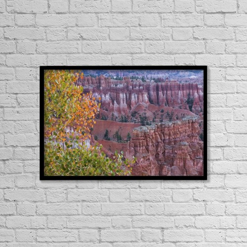 "Printscapes Wall Art: 18"" x 12"" Canvas Print With Black Frame - Scenic by Ronald Phillips"