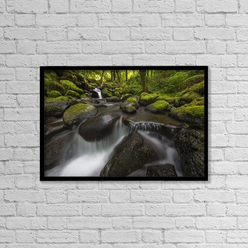 "Printscapes Wall Art: 18"" x 12"" Canvas Print With Black Frame - Ruckel Creek by Robert Postma"