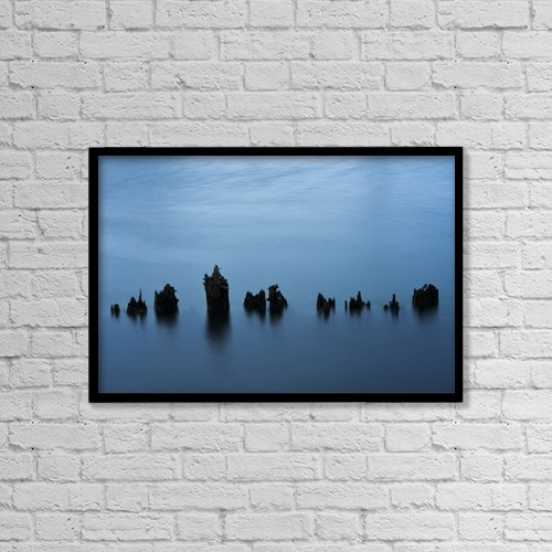 """Printscapes Wall Art: 18"""" x 12"""" Canvas Print With Black Frame - Other by Robert L. Potts"""