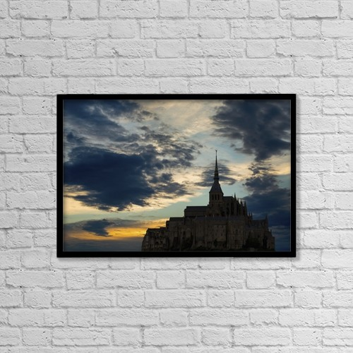 "Printscapes Wall Art: 18"" x 12"" Canvas Print With Black Frame - Christian Faith by Michael Interisano"