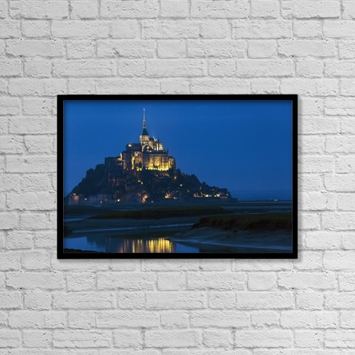 """Printscapes Wall Art: 18"""" x 12"""" Canvas Print With Black Frame - Christian Faith by Michael Interisano"""