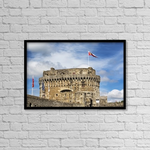 """Printscapes Wall Art: 18"""" x 12"""" Canvas Print With Black Frame - Architectural Exteriors by Michael Interisano"""