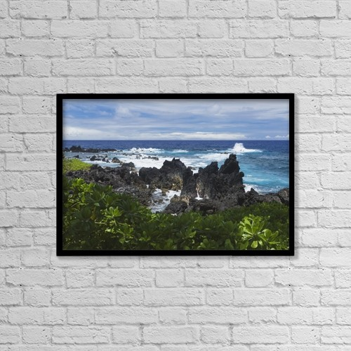 "Printscapes Wall Art: 18"" x 12"" Canvas Print With Black Frame - Scenic by Alvis Upitis"
