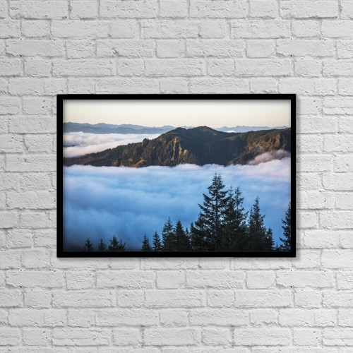 "Printscapes Wall Art: 18"" x 12"" Canvas Print With Black Frame - Weather by Robert L. Potts"