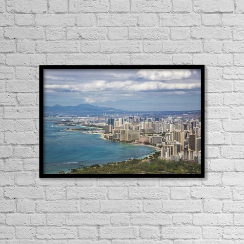 "Printscapes Wall Art: 18"" x 12"" Canvas Print With Black Frame - Travel by Lynn Wegener"